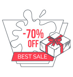 best sale with big discounts promotion poster vector image
