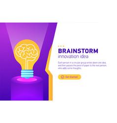 Brainstorm idea man concept teamwork and vector