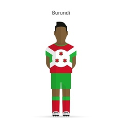 Burundi football player Soccer uniform vector image