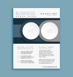 business brochure design template with space for vector image