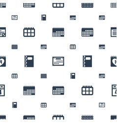 Calendar icons pattern seamless white background vector