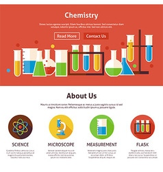 Chemistry Science Flat Web Design Template vector