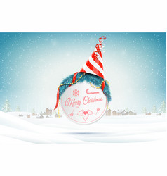 christmas and new year typography greetings on vector image