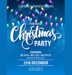 Party invitation poster vector images over 63000 christmas party invitation poster with hand vector stopboris Gallery