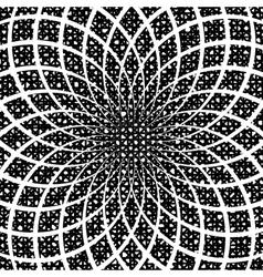 Design monochrome circular spiral background vector