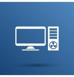 Desktop Computer Icon pc symbol laptop vector