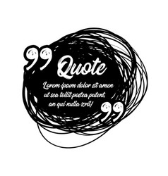 drawn quotes and a frame to highlight the frame vector image