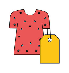 dress with tag to shopping new clothes vector image