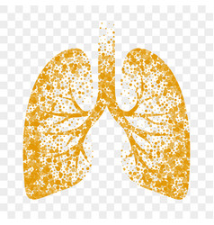 Dry cough icon lungs cold dry cough and vector