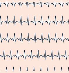 ekg seamless pattern electrocardiogram vector image