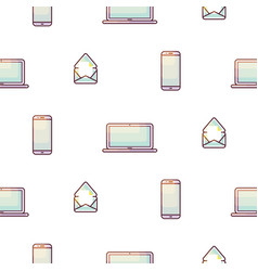 Electronic devices portable seamless gradient vector