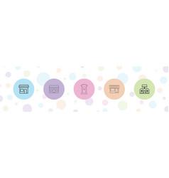 Facade icons vector