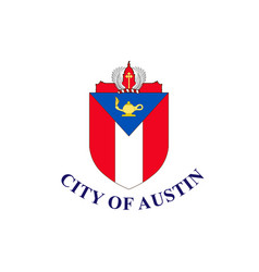 Flag of austin in texas in united states vector