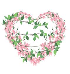 floral decoration invitation vector image