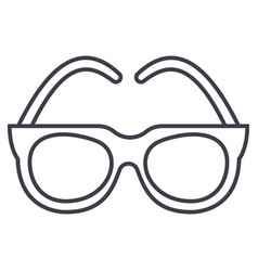gogglessunglasses line icon sign vector image