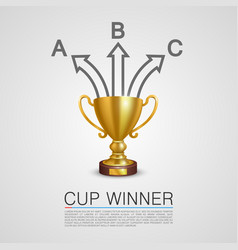 Graphic information winner cup art vector