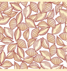 Hand drawn pasta conchiglie seamless pattern vector