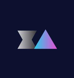 Initial alphabet letter xa x a logo company icon vector