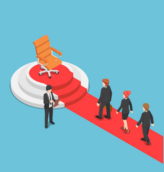 isometric businessman in a queue for job vector image