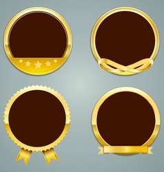 label gold vector image
