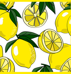 Lemons allover vector