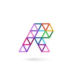Letter R mosaic logo icon design template elements vector