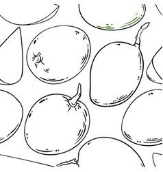 mango fruits pattern on white background vector image