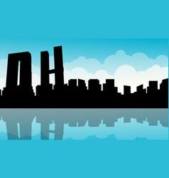 mexico city building landscape silhouettes vector image