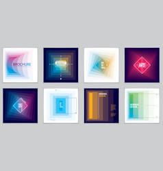 minimalistic brochure designs web commerce or vector image