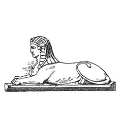 Modern crouching sphinx is a modern design the vector