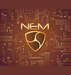 Nem bitcoin background design collection vector
