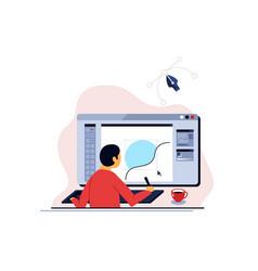 online school graphic design vector image
