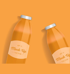 Orange or carrot juice package design with label vector