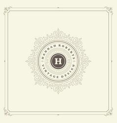 ornament logo design template flourishes vector image