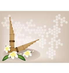 Pan Flute Plumeria Flower Background vector