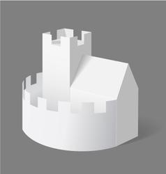 Paper Castle vector image