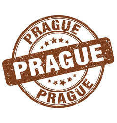 Prague stamp vector