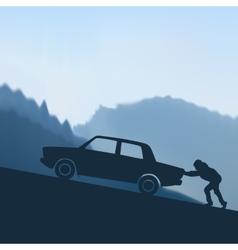 Pushing a car vector