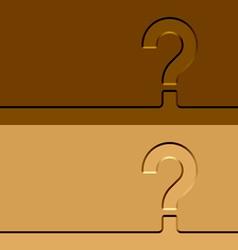 Question mark imprints vector