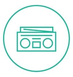 Radio cassette player line icon vector image