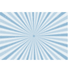 retro blue sunburst and rays comic cartoon vector image
