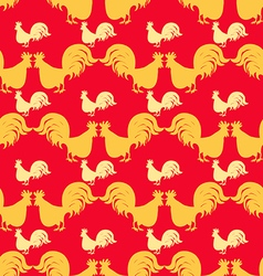 Rooster pattern1 vector image