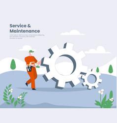 Service and maintenance flat design vector