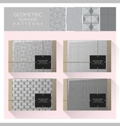 Set geometric seamless pattern 1 vector