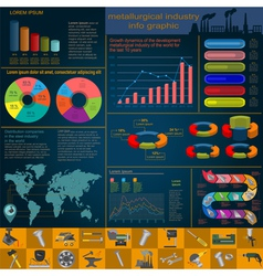 Set of elements and tools of metallurgical vector image