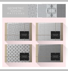 Set of geometric seamless pattern 1 vector