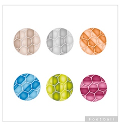 Set of Multi Colored Footballs or Soccer Balls vector image