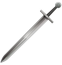 Steel sword vector