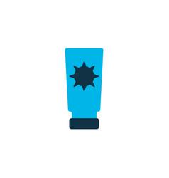 Sunblock icon colored symbol premium quality vector