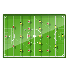 Table football game top view vector